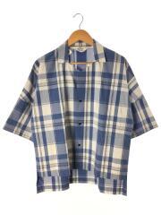 16SS/Cotton Fried Shrimp Shirt/半袖シャツ/3/コットン/BLU/チェック
