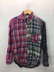 クレイジーパターンシャツ/長袖シャツ/36/コットン/マルチカラー