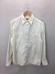 長袖シャツ/14.5/コットン/WHT/シャツ/ボタンシャツ