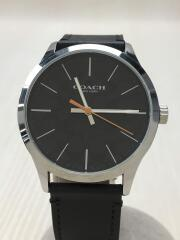 クォーツ腕時計/ミニシグネチャー/3針/夜光/アナログ/レザー/BLK/W1584/