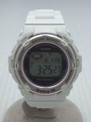 BABY-G/クォーツ腕時計/デジタル/ラバー/PNK/WHT/BGR-3003-7BJF