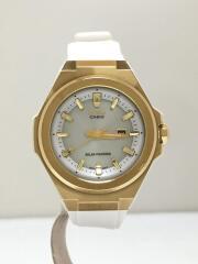 クォーツ腕時計/アナログ/ラバー/SLV/WHT/msg-s500