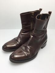 ブーツ/40/サイドジップブーツ/履きシワ有/ソール減り有/BRW/レザー/B822