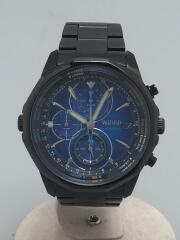 クロノグラフ/クォーツ腕時計/アナログ/ステンレス/BLU/BLK/WK67-K090