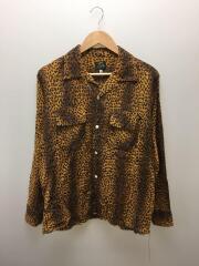 20SS/Cut-Off Bottom Classic Shirt/長袖シャツ/M/レーヨン/CML/レオパード
