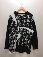 20AW/YARN DYE 16/ KANJI PRINT LONG SLEEVES長袖Tシャツ/3/コットン/BL