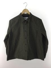 2019model/END ON END COTTON CHECK/長袖シャツ/2/カーキ/595-9253506