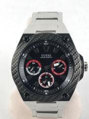 クォーツ腕時計/アナログ/ステンレス/ブラック/シルバー/W135G1