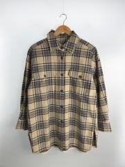 コットチェックビッグシャツ/長袖シャツ/--/コットン/ベージュ/1611-149-2065