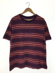 Tシャツ/L/コットン/PUP/ボーダー/紫/パープル