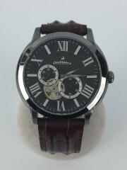自動巻腕時計/アナログ/レザー/ブラック/ブラウン/OR-0035N
