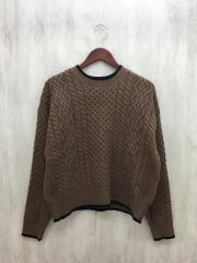 セーター(厚手)/FREE/ウール/ブラウン/茶/19-080-400-9240-3-0
