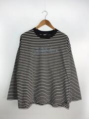 SNATCHER BORDER T-SHIRT/長袖Tシャツ/L/コットン/黒/ブラック/G03LT161