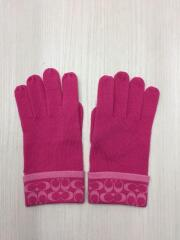 手袋/ウール/PNK