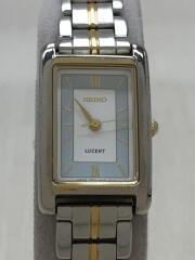 クォーツ腕時計/アナログ/--/WHT/SLV