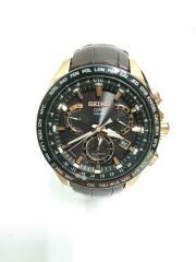 ソーラー腕時計/アナログ/レザー/BRW/BRW