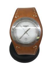 クォーツ腕時計/アナログ/レザー/WHT/BRWHA3.7101515809