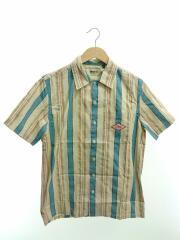 半袖シャツ/XS/コットン/マルチカラー/ストライプ