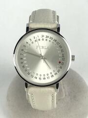 FURLA/4251121508/クォーツ腕時計/アナログ/レザー/WHT/IVO