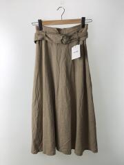 ベルト付フレアスカート/19SS/09WFS191065/0/リネン/BEG