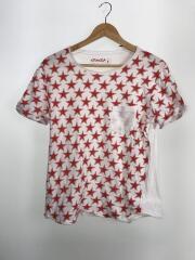 Tシャツ/S/コットン/WHT/星/スター/着用感有