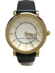 クォーツ腕時計/ロキシー/MJ1537/アナログ/レザー/BLK