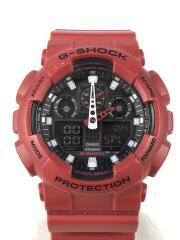 クォーツ腕時計・G-SHOCK/GA-100B-4AJF/デジアナ/RED