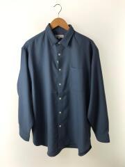 長袖シャツ/SIDRA/刺繍/20AW/XL/ポリエステル/BLU