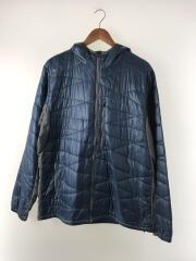ユニセックスエアダウンジャケット/PLIMALOFT/ナイロンジャケット/XL/ブルー/8504-1714