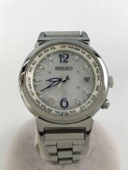 LUKIA/ルキア/ソーラー腕時計/アナログ/ステンレス/ホワイト/シルバー/1B25-0AA0