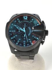 MEGA CHIEF/メガチーフ/クォーツ腕時計/アナログ/ステンレス/ブラック/DZ-4318