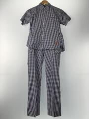 セットアップ/半袖シャツ/パンツ/S/コットン/ブルー/チェック/10SS-ALL-03