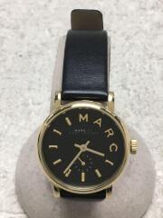 クォーツ腕時計/アナログ/レザー/ブラック/MBM1273