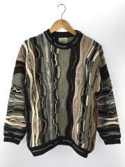 AKLANDA/3Dニットセーター(厚手)/オーストラリア製/S/ウール/マルチカラー