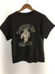 50~60s/カラーフロッキー/SCOTTSBLUFF BEAR CAT/半袖スウェット/コットン/ブラッック
