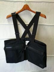 ×PORTER/CHEST BAG/ベスト/--/コットン/BLK/ベスト型バッグ/バイナルアーカイブ