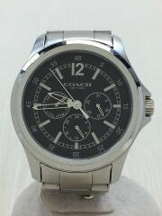 クォーツ腕時計/アナログ/ステンレス/BLK/SLV/CA.94.2.95.1198/コーチ