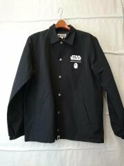 ×STAR WARS/BAPE FIRST ORDER COACH JACKET/ジャケット/M/BLK/エイプ