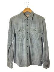 GRORY BOUND/ネルシャツ/S/コットン/BLU/チェック