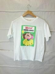 ANIMALプリントTシャツ/36/コットン/WHT/ma91uts710/ミュベール