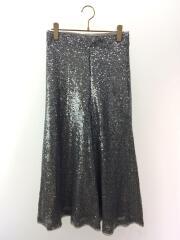 スパンコールスカート/1/ナイロン/SLV/無地/09WFS184126