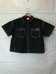 BOX SILHOUETTE WORK SHIRT/半袖シャツ/2/コットン/BLK/105202014004