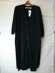 wrap line knit cardigan/カーディガン(薄手)/FREE/BLK/011703050309