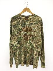 長袖Tシャツ/XL/コットン/KHK/カモフラ