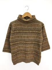 タートルネックセーター(厚手)/--/ウール/BRW/総柄