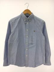 BDシャツ/長袖シャツ/14-16/L/コットン/BLU/無地