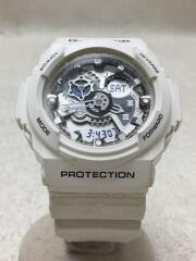 G-SHOCK/クォーツ腕時計/デジアナ/ラバー/SLV/WHT/ga-300
