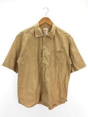 半袖シャツ/40/コットン/BEG/無地/19S-WS-004/色褪せ有/ヨゴレ有