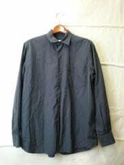 16SS/レギュラーカラーシャツ/長袖シャツ/1/コットン/NVY/101-02001
