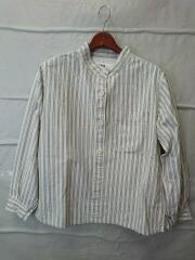 19SS/cotton Oxford stripe/長袖シャツ/1/CRM/595-9253510